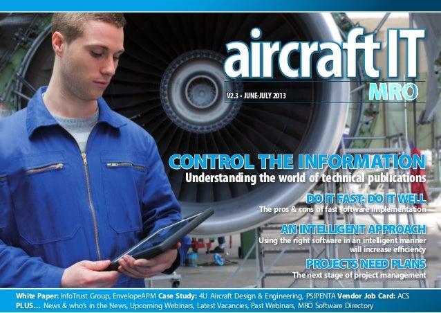 White Paper: InfoTrust Group, EnvelopeAPM Case Study: 4U Aircraft Design & Engineering, PSIPENTA Vendor Job Card: ACS Plus...