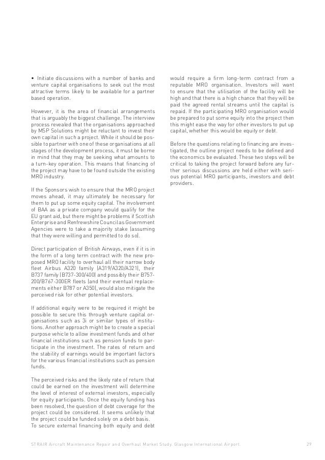 Aircraft Maintenance Repair & Overhaul Market Study