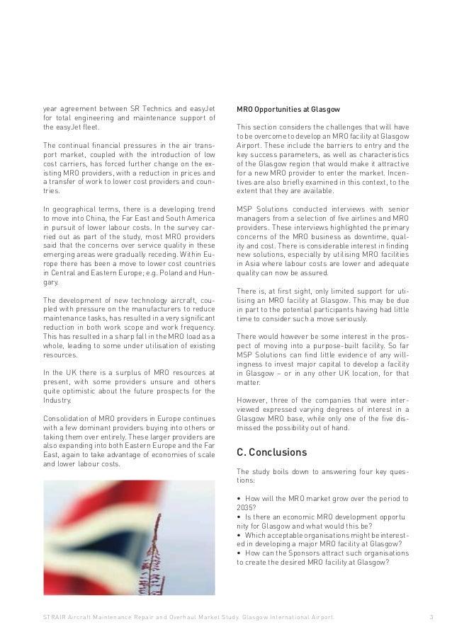 Aircraft Maintenance Repair Overhaul Market Study