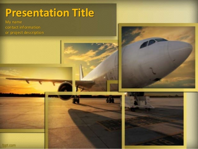 aircraft powerpoint template and powerpoint background for