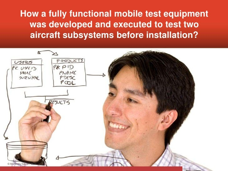 How a fully functional mobile test equipment            was developed and executed to test two            aircraft subsyst...