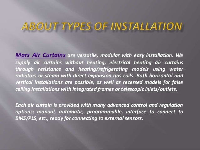 Air Curtains Or Air Doors It S Models Installation And Uses In Diffe