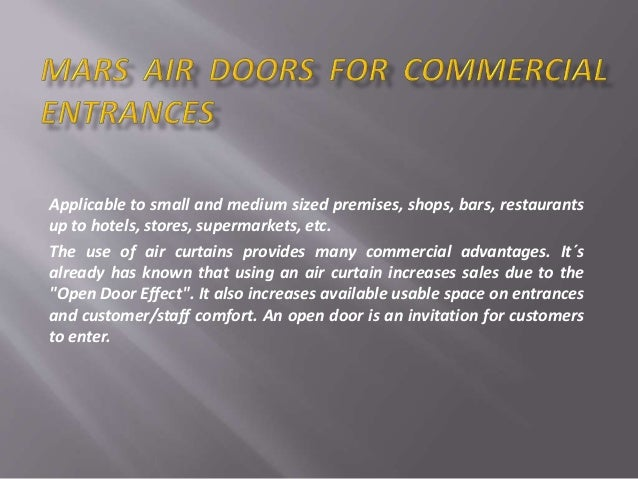Curtains Ideas air curtains for restaurants : Air curtains or air doors it's models, installation and uses in diffe…