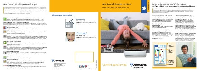www.junkers.esAire Acondicionado JunkersAlta eficiencia para el hogar. Hasta A++Confort para la vidaNuevaGama8.738.790.008...