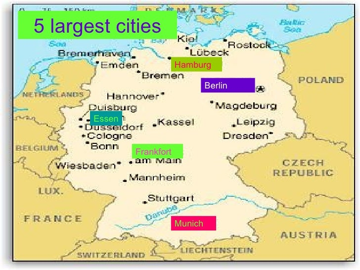 5 largest cities berlin hamburg munich frankfort essen