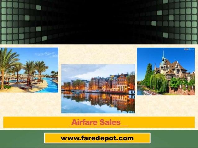 Airfare Sales www.faredepot.com