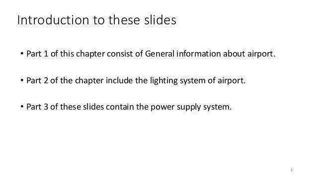 Airfield ground lighting (AGL) Slide 2