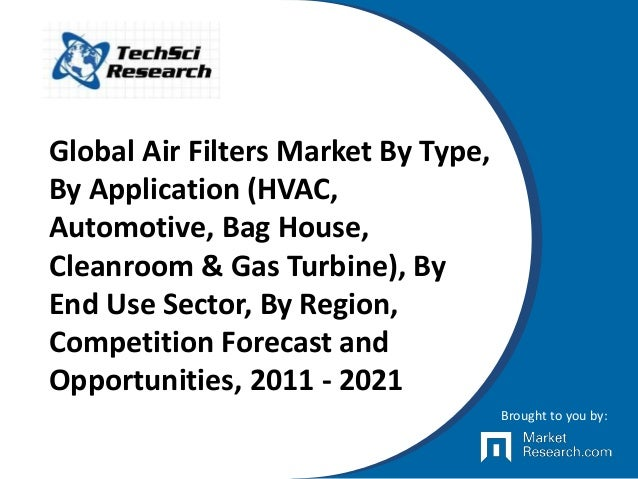 Global Air Filters Market By Type, By Application (HVAC, Automotive, Bag House, Cleanroom & Gas Turbine), By End Use Secto...