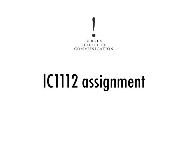 IC1112 assignment