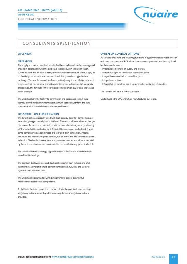 Air handlings units catalogue
