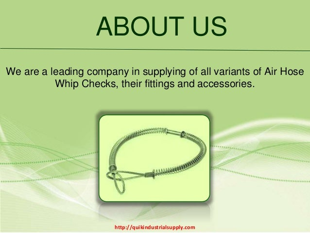 Superior Quality Air Hose Whip Checks| Quik Industrial Supply Slide 2