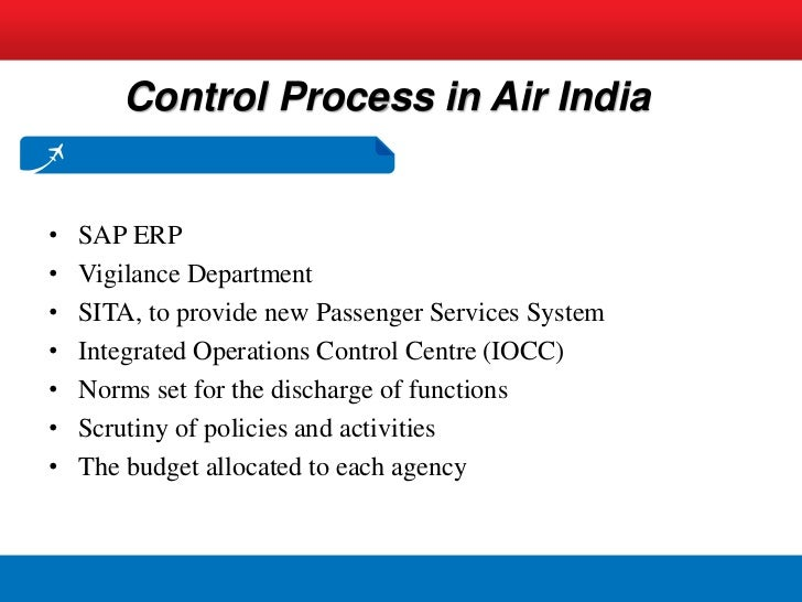 Management control systems at air india