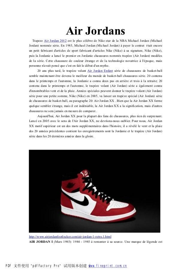 Air Jordans             Trapeze Air Jordan 2012 est le plus célèbre de Nike star de la NBA Michael Jordan (Michael        ...