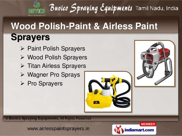 Airless Sprayer And Accessories By Buvico Spraying