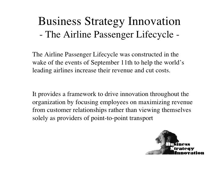 Business Strategy Innovation  - The Airline Passenger Lifecycle -The Airline Passenger Lifecycle was constructed in thewak...