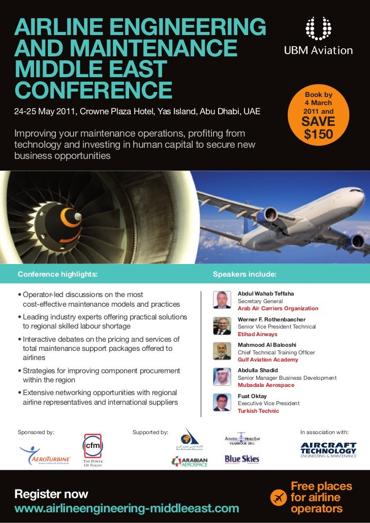 AIRLINE ENGINEERINGAND MAINTENANCEMIDDLE EASTCONFERENCE                                                                   ...