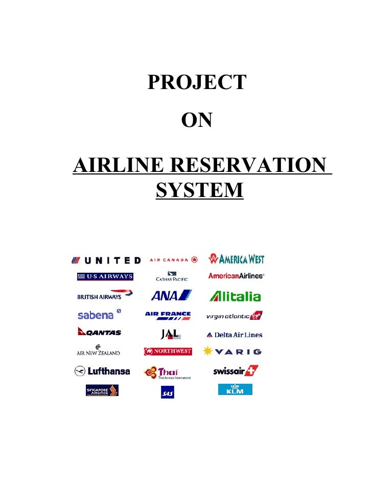 PROJECT         ON  AIRLINE RESERVATION       SYSTEM