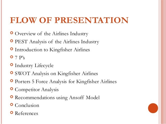 swot kingfisher airlines An analysis done on kingfisher airlines(india), under the subject international business the focus was more on slept analysis the presentation was made by fi.