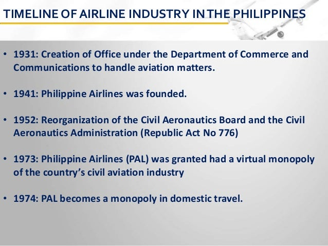 airline deregulation in the philippines E-mail address: chantallatge-roucolle@enacfr † south eastern asian countries are: brunei, cambodia, indonesia, lao pdr, malaysia, myanmar, the philippines , singapore, thailand, and vietnam ‡ 5th freedom right (sometimes referred to as beyond rights): the right for an airline to take passengers from.
