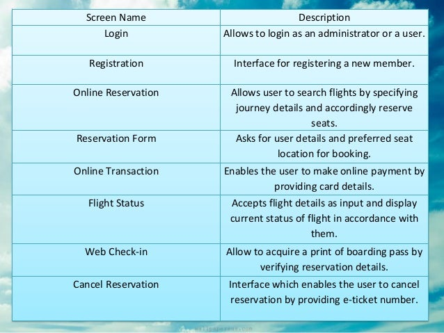 what is online reservation system pdf