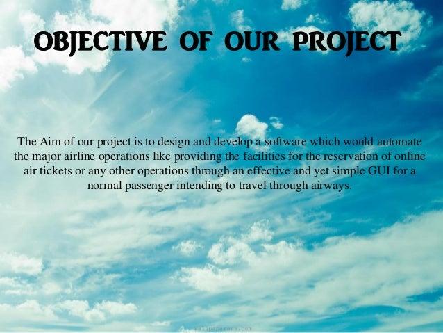 Airline Reservation System - Software Engineering Slide 2