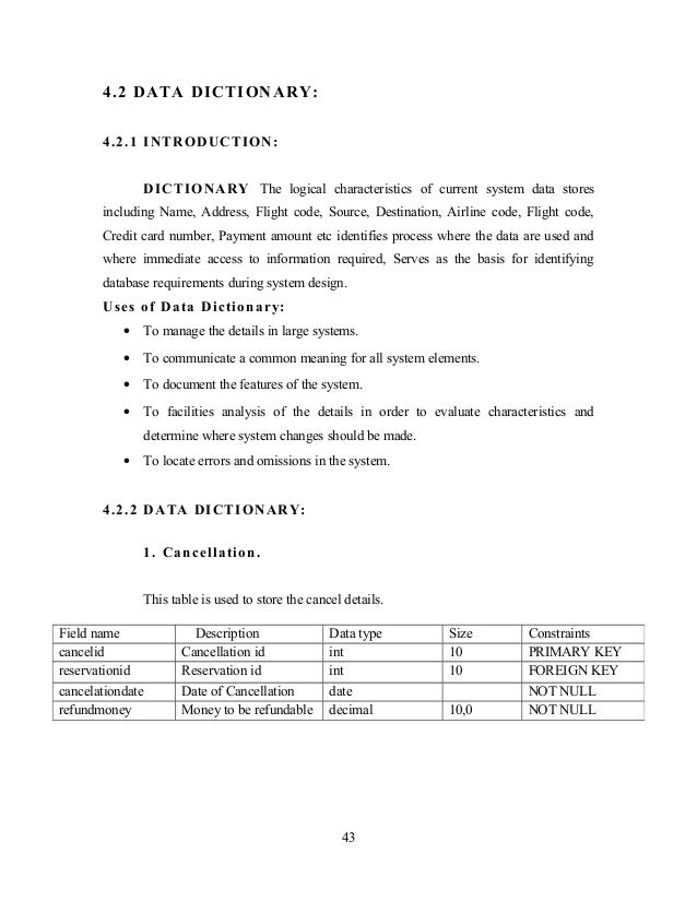 English In Italian: Airline Reservation System Documentation