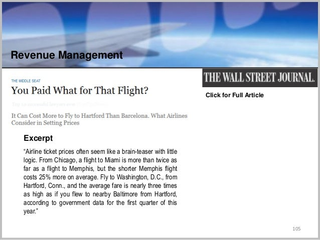 """105 Click for Full Article """"Airline ticket prices often seem like a brain-teaser with little logic. From Chicago, a flight..."""