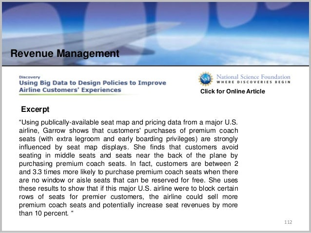 """112 """"Using publically-available seat map and pricing data from a major U.S. airline, Garrow shows that customers' purchase..."""