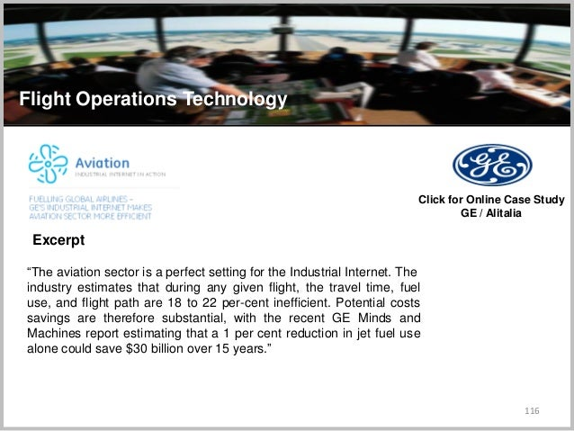"""116 Flight Operations Technology """"The aviation sector is a perfect setting for the Industrial Internet. The industry estim..."""