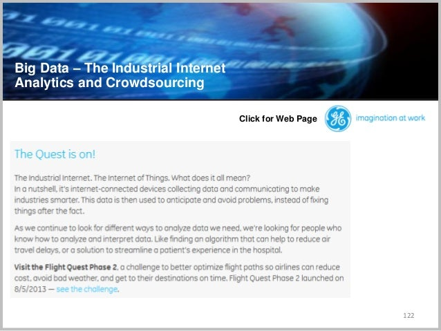 Big Data – The Industrial Internet Analytics and Crowdsourcing 122 Click for Web Page
