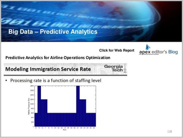 Big Data – Predictive Analytics 128 Predictive Analytics for Airline Operations Optimization Click for Web Report