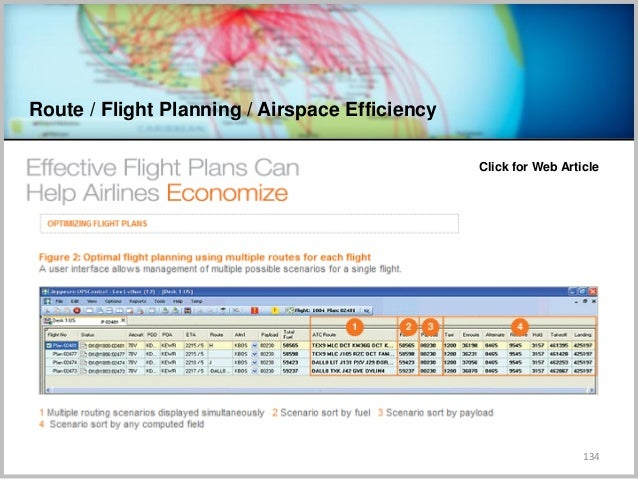 Route / Flight Planning / Airspace Efficiency 134 Click for Web Article