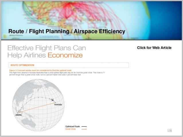 Route / Flight Planning / Airspace Efficiency 135 Click for Web Article