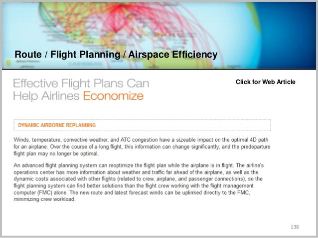 Route / Flight Planning / Airspace Efficiency 138 Click for Web Article