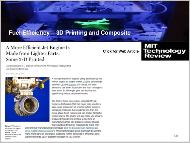146 Click for Web Article C Fuel Efficiency – 3D Printing and Composite