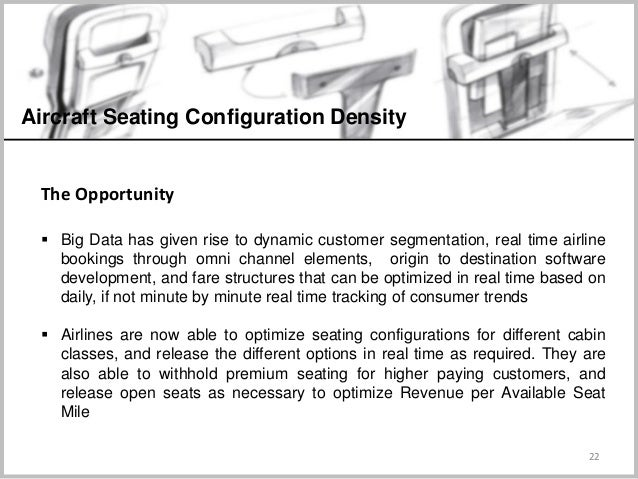 22 Aircraft Seating Configuration Density The Opportunity  Big Data has given rise to dynamic customer segmentation, real...