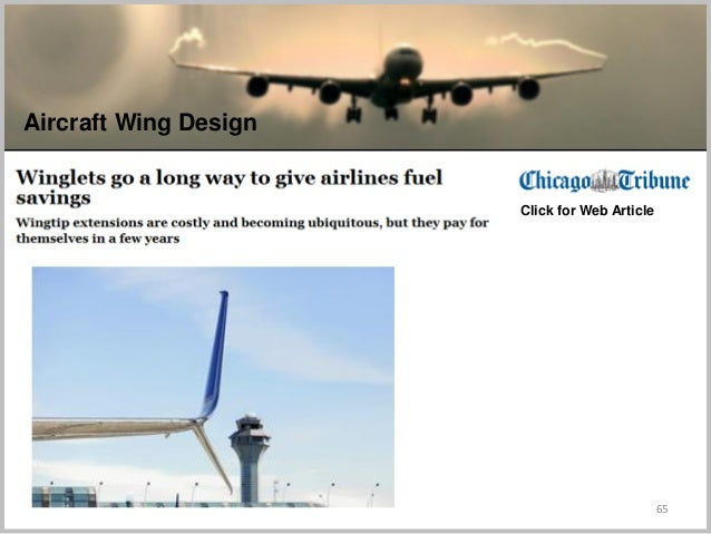 65 Aircraft Wing Design Click for Web Article
