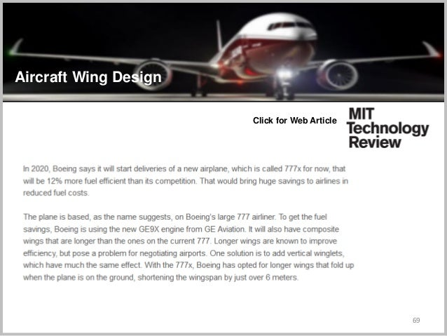 69 Click for Web Article Aircraft Wing Design