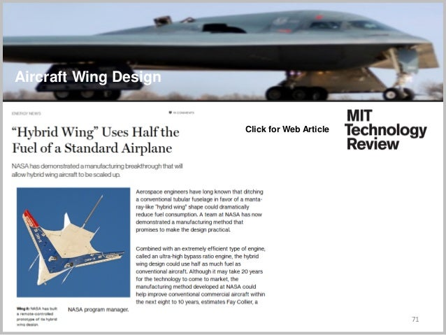 71 Click for Web Article Aircraft Wing Design