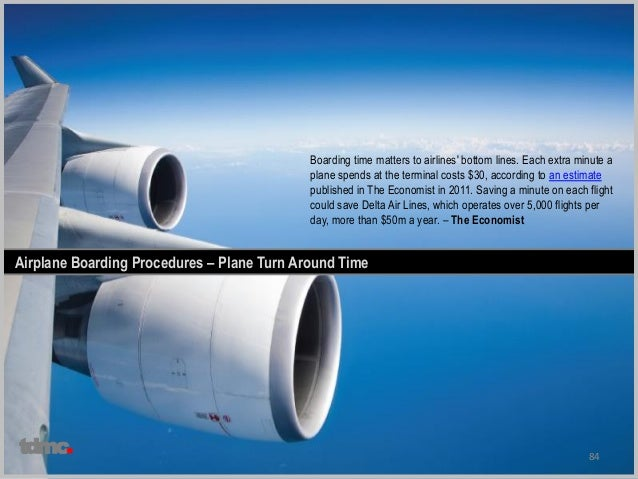 84 Airplane Boarding Procedures – Plane Turn Around Time Boarding time matters to airlines' bottom lines. Each extra minut...