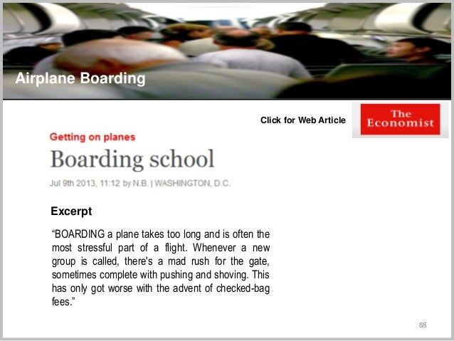"""88 Airplane Boarding Click for Web Article """"BOARDING a plane takes too long and is often the most stressful part of a flig..."""