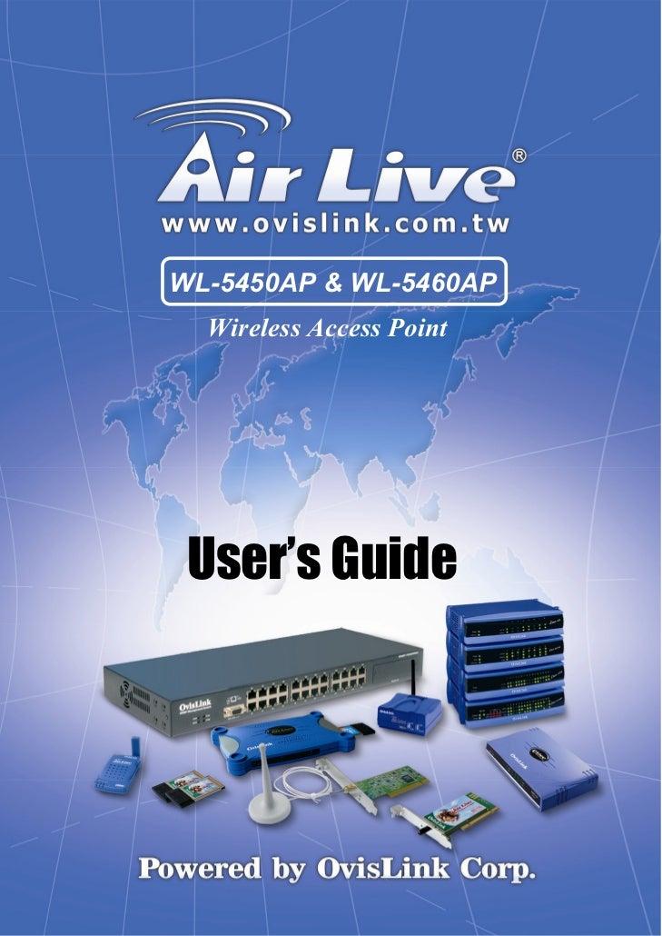 WL-5450AP & WL-5460AP  Wireless Access Point User's Guide            1