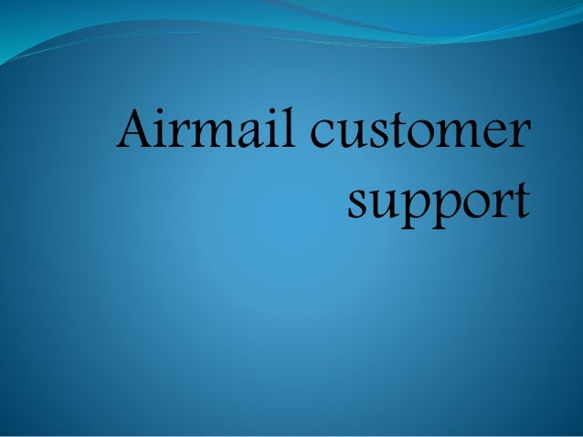 Airmail customer support