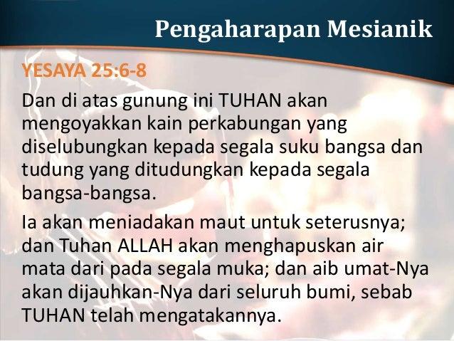Wahyu kepada Yohanes WAHYU 21:1-7 Lalu aku melihat langit yang baru dan bumi yang baru, sebab langit yang pertama dan bumi...