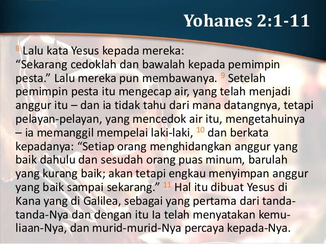 Tujuan Injil Yohanes YOHANES 20:30-31 Memang masih banyak TANDA lain yang dibuat Yesus di depan mata murid-murid- Nya, yan...
