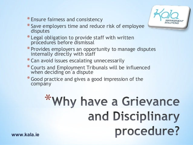 disciplinary and grievance policies Purpose of policy policy application the grievance hearing grievance procedure should be dealt with as an appeal under the disciplinary procedure grievances.