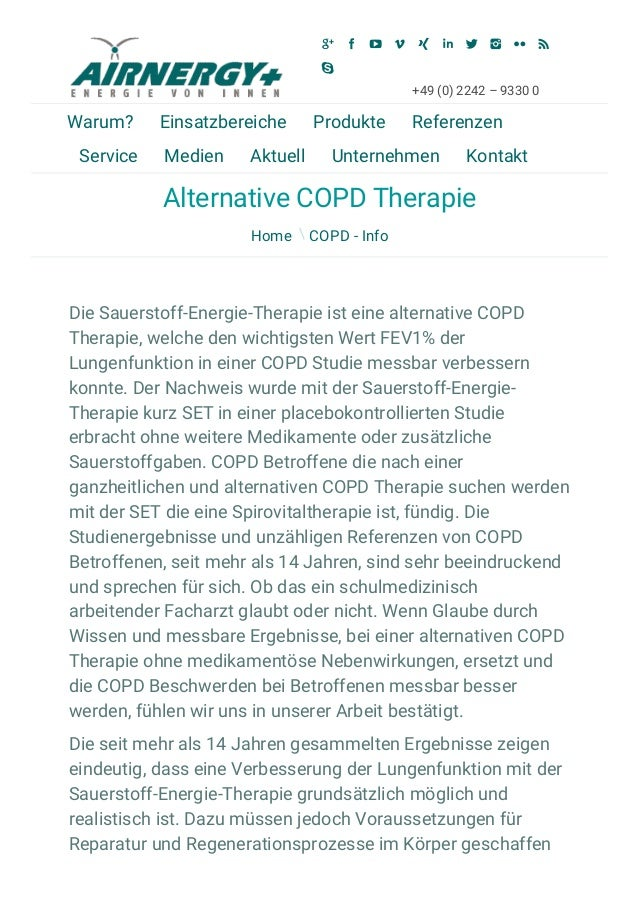16.3.2015 Airnergy International | Alternative COPD Therapie ­ Airnergy International http://www.airnergy.de/blog/2015/03/...