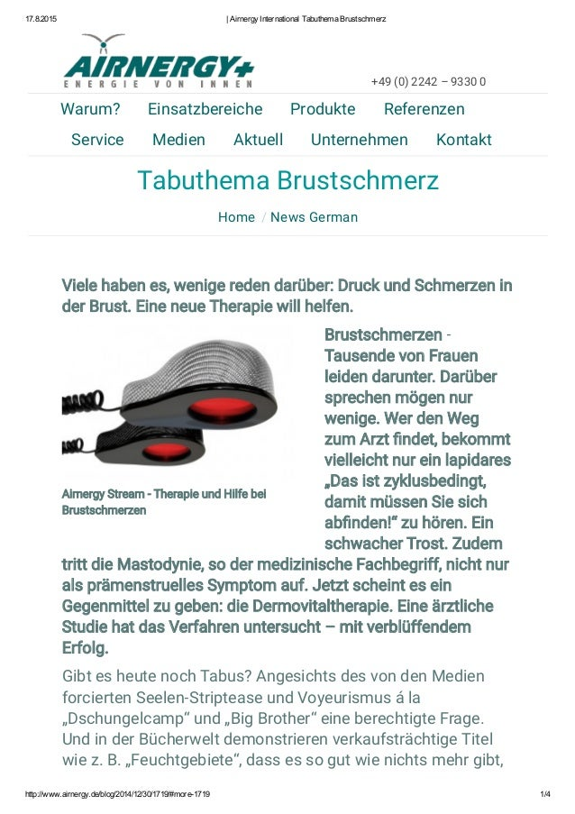 17.8.2015 |AirnergyInternationalTabuthemaBrustschmerz http://www.airnergy.de/blog/2014/12/30/1719/#more1719 1/4 Tabut...