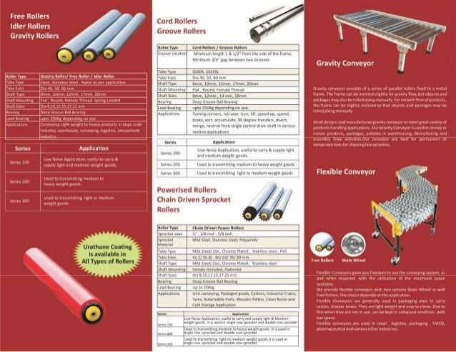 Airoll conveyor rollers catalog
