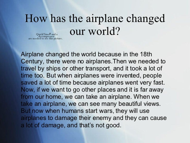How airplanes changed the world